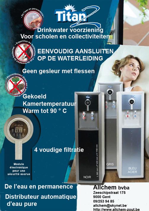 titan2 drinkwatervoorziening distributeur automatique d. Black Bedroom Furniture Sets. Home Design Ideas